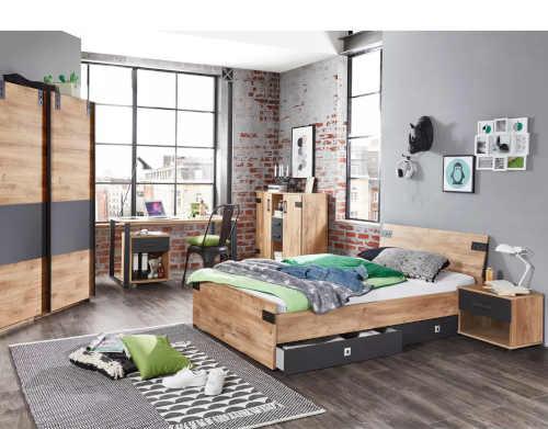 moderní manželská postel Mersey 140x200 cm