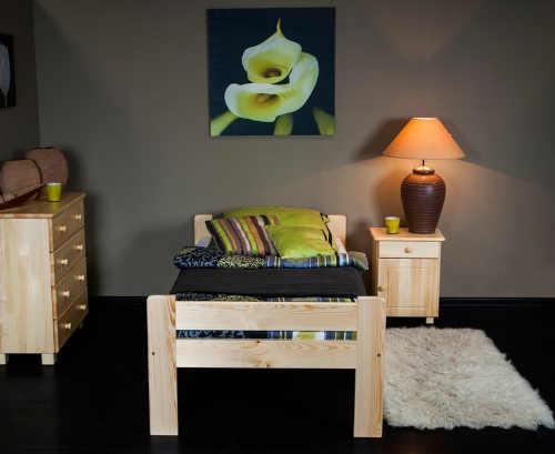 postel jednolůžková z masivu
