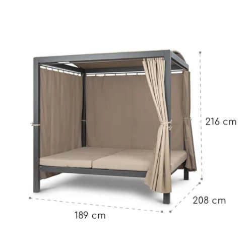 zahradní postel v luxusním provedení