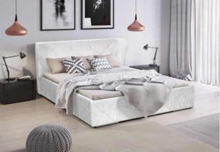 Čalouněná manželská postel 160x200 cm v módním designu