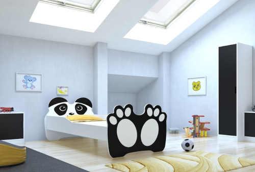 Dětská dřevěná postel 160x80 cm s motivem medvídka