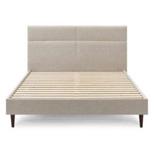 Dvoulůžková postel 180x200 cm v béžovém čalounění