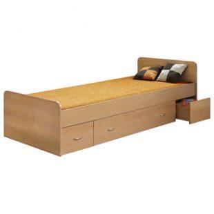Jednolůžková dřevěná postel s praktickým úložným místem