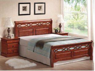 Manželská postel o rozměru 160x200 cm v rustikálním stylu