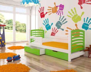 Moderní dětská postel s praktickým úložným prostorem