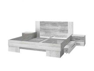 Moderní manželská postel 180x200 cm s nočními stolky