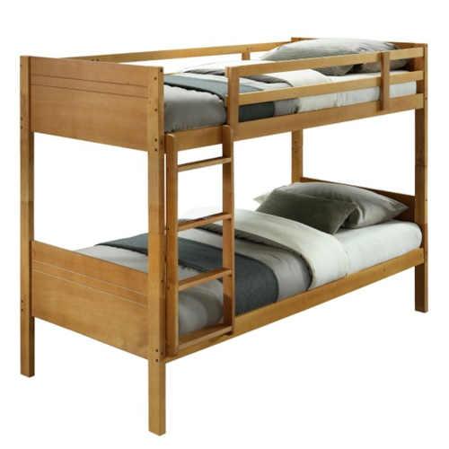 Moderní patrová postel z kvalitního materiálu v dekoru dub