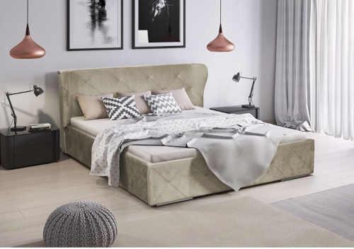 čalouněná postel ve 4 barevných variantách