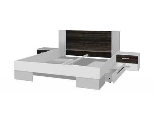 dvoulůžko v moderním designu se stolky