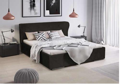 dvoulůžková čalouněná moderní postel