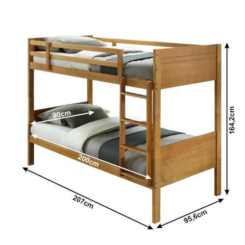 patrová postel v moderním designu dub