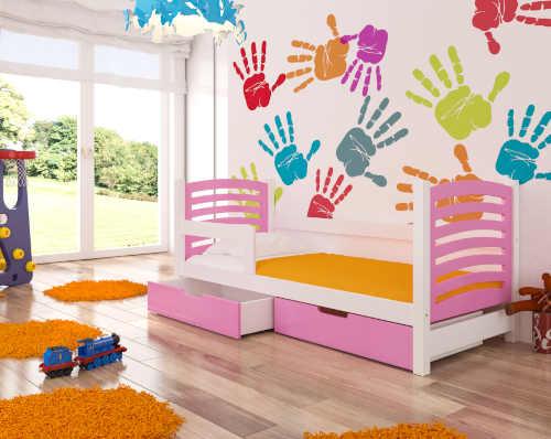 postel pro dítě v 10 barevných variantách