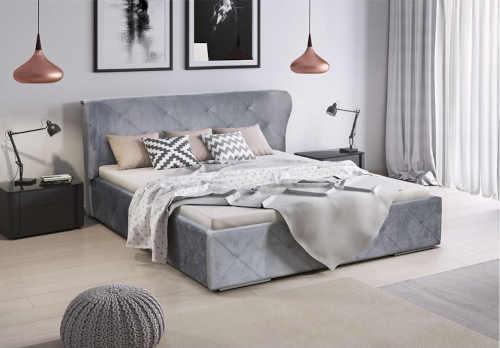 postel v kvalitním čalounění
