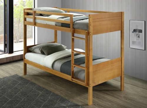 praktická dřevěná patrová postel