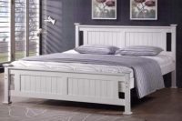 Bílá postel Scyre 160x200 venkovský styl