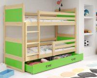 Dětská patrová postel RICO 160x80 cm v různých barevných variantách