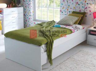 Levná bílá jednolůžková postel MARIONET 90x200 cm