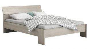 Levná postel 140x200 cm PRICY dub