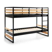 Dětská patrová postel s konstrukcí z borovicového dřeva