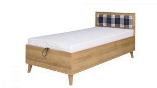 Jednolůžková postel 90x200 cm v moderním dekoru dub zlatý