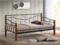 Jednolůžková postel o rozměru 90x200 cm v dekoru třešeň