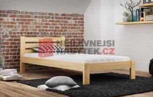 Jednolůžková postel o rozměru 90x200 cm v přírodním dekoru