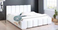 Moderní manželská čalouněná postel s úložným prostorem