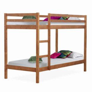 Patrová postel z masivu ve světle hnědém provedení