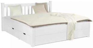 Rustikální postel o rozměru 160x200 cm s úložným místem