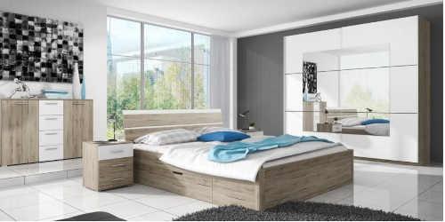 dvoulůžková postel s úložným místem