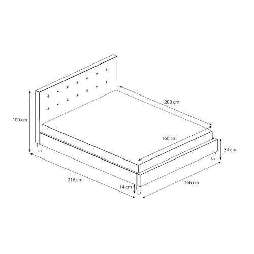 šedá čalouněná moderní postel