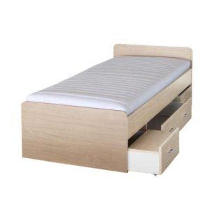 Dětská postel 90x200 cm v přírodním dekoru se zásuvkami