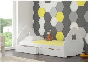 Dětská postel s úložným prostorem v módních barvách