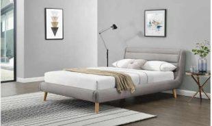 Dvoulůžková čalouněná postel v elegantním provedení