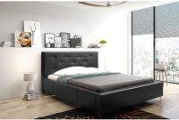 Dvoulůžková postel 180x200 cm v černém čalouněném provedení