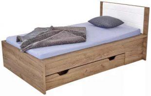 Jednolůžková postel s úložným prostorem v moderním designu