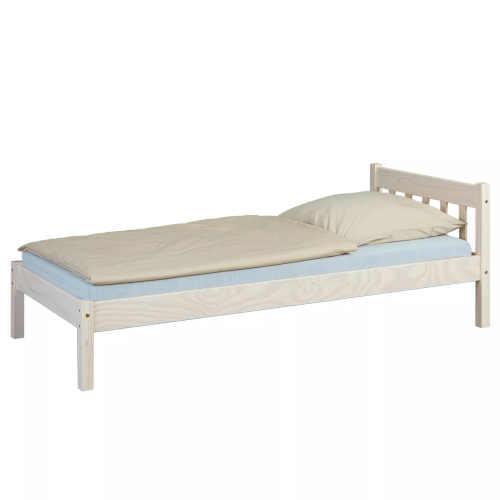 Jednolůžková postel z kvalitního materiálu v přírodním dekoru