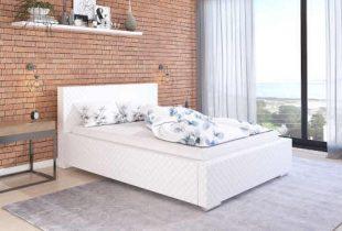 Prostorná manželská postel s roštem v zajímavém designu