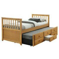 Rozkládací postel do garsonky s přistýlkou a úložným prostorem