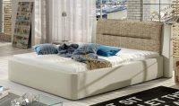 Čalouněná postel Piri 140 x 200 včetně roštu a s velkým úložným prostorem