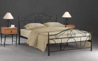 Levná kovová manželská postel 160 x 200 cm
