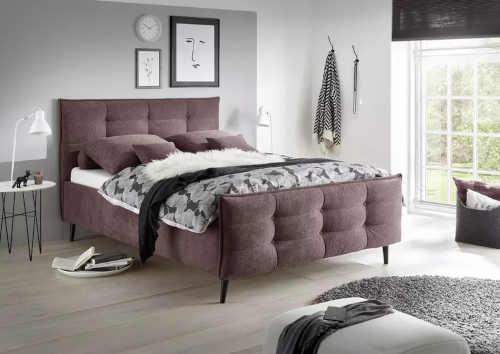 manželská čalouněná postel Mario