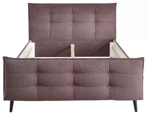 moderní čalouněná postel v elegantním stylu