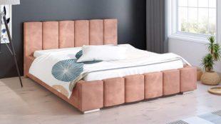 Originální čalouněná dvoulůžková postel Galo 140x200 cm