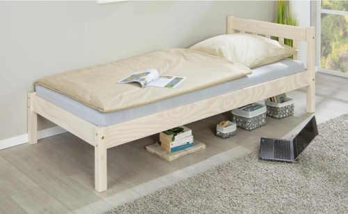 postel jednolůžko z masivu