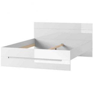 Bílá manželská postel 180x200 cm v moderním provedení