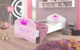 Dětská postel Princezna s kvalitní matrací a roštem